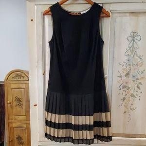 Drop waist pleated bottom dress loft
